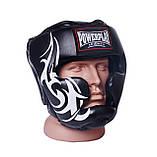 Боксерський шолом PowerPlay тренувальний 3043 Чорний XL SKL24-144193, фото 6
