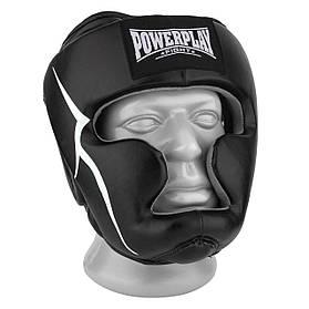 Боксерський шолом PowerPlay тренувальний 3066 PU, Amara Чорний XL SKL24-144813
