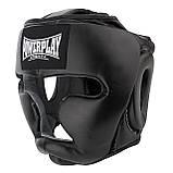Боксерський шолом PowerPlay тренувальний 3066 PU, Amara Чорний XL SKL24-144813, фото 5
