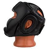Боксерський шолом PowerPlay тренувальний 3066 PU, Amara Чорний XL SKL24-144813, фото 8
