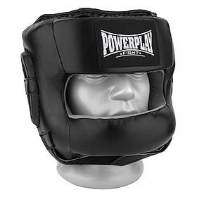 Боксерський шолом PowerPlay тренувальний 3067 з бампером PU, Amara Чорний L SKL24-144825