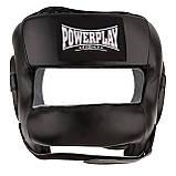 Боксерський шолом PowerPlay тренувальний 3067 з бампером PU, Amara Чорний S SKL24-144823, фото 5