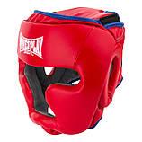 Боксерський шолом PowerPlay тренувальний 3068 PU, Amara Червоно-Синій M SKL24-144819, фото 4