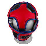 Боксерський шолом PowerPlay тренувальний 3068 PU, Amara Червоно-Синій M SKL24-144819, фото 6