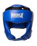 Боксерський шолом PowerPlay турнірний 3049 Синій S SKL24-143651, фото 3