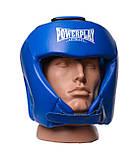 Боксерський шолом PowerPlay турнірний 3049 Синій XL SKL24-144085, фото 2