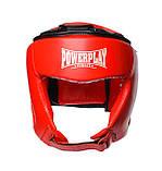 Боксерський шолом PowerPlay турнірний 3049 Червоний L SKL24-144087, фото 2
