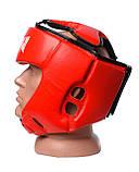 Боксерський шолом PowerPlay турнірний 3049 Червоний L SKL24-144087, фото 3