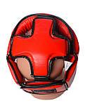 Боксерський шолом PowerPlay турнірний 3049 Червоний L SKL24-144087, фото 5
