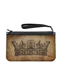 Клатч кожаный DM 01 Королева коричневый SKL47-177274