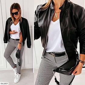 Куртка жіноча коротка з еко-шкіри SKL11-289496