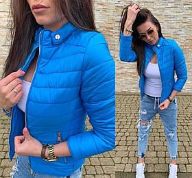 Куртка женская синяя SKL11-290584