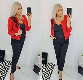 Жіночий класичний костюм двійка червоний SKL11-280467