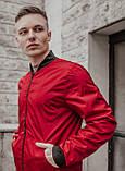 Бомбер красный мужской весенний SKL59-259529, фото 3