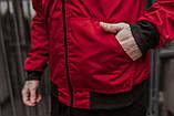 Бомбер красный мужской весенний SKL59-259529, фото 4