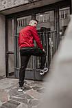 Бомбер красный мужской весенний SKL59-259529, фото 6