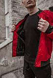 Бомбер красный мужской весенний SKL59-259529, фото 7