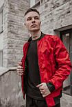 Бомбер красный мужской весенний SKL59-259529, фото 10