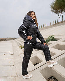 Женский лыжный костюм на меху батал SKL11-279628