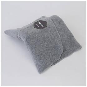 Подушка для подорожей Travel pillow Сіра SKL11-187108