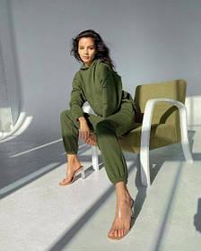 Спортивний костюм жіночий зелений SKL11-291916