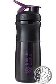 Бутылка-шейкер спортивная BlenderBottle SportMixer 820ml Black-Plum SKL24-144857