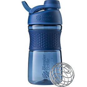 Бутылка-шейкер спортивная BlenderBottle SportMixer Twist 590ml Navy SKL24-144931