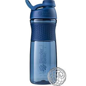Бутылка-шейкер спортивная BlenderBottle SportMixer Twist 820ml Navy SKL24-144925