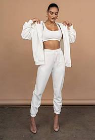 Жіночий спортивний костюм трійка білий SKL11-289826