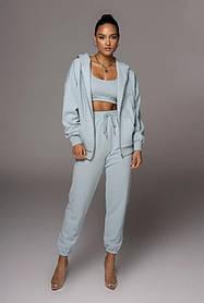 Жіночий спортивний костюм трійка блакитний SKL11-289830