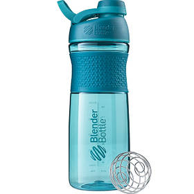 Бутылка-шейкер спортивная BlenderBottle SportMixer Twist 820ml Teal SKL24-144926