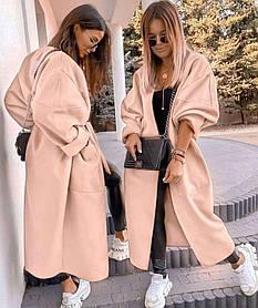 Кашемірове пальто жіноче молоко SKL11-290600