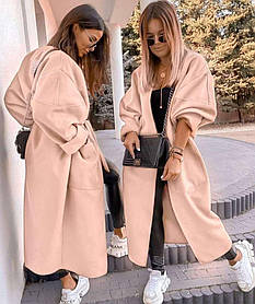 Женское кашемировое пальто молоко SKL11-290600