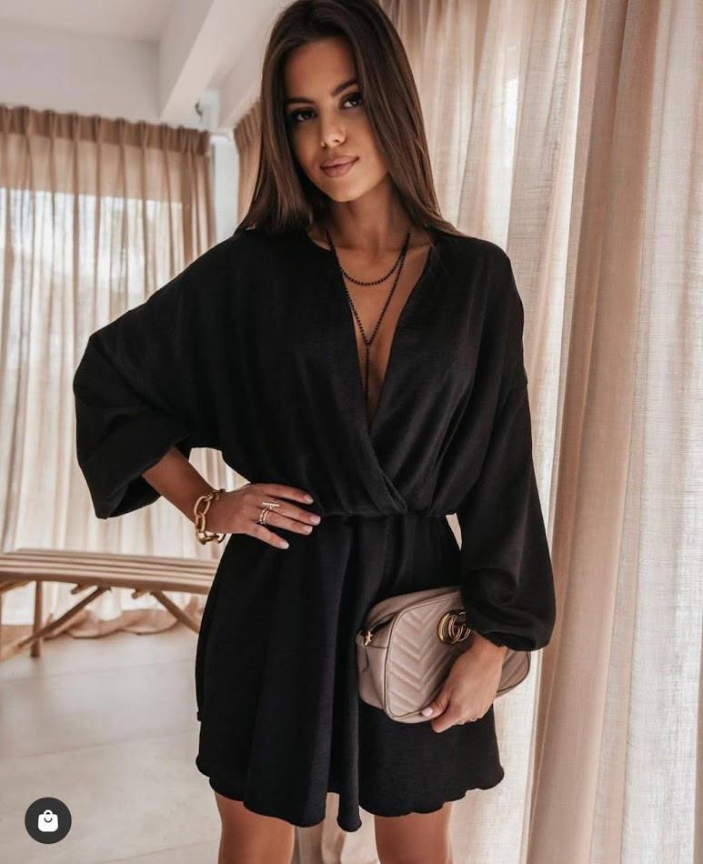 Женское платье черное SKL11-289875