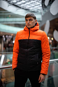 Демісезонна Куртка Temp (помаранчева - чорна) SKL59-259520