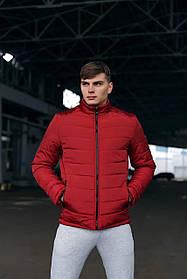 Демісезонна чоловіча тепла червона куртка Весна-Осінь SKL59-259591