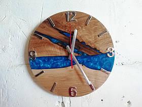 Дерев'яні годинник з епоксидки Годинник-річка Ручна Робота ТМ Просто і Легко 33на2,3 см SKL12-265764