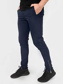 Котонові чоловічі штани Strider сині SKL59-259692