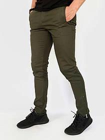 Котонові чоловічі штани Strider хакі SKL59-259693
