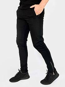 Мужские Коттоновые штаны Strider черные SKL59-259691