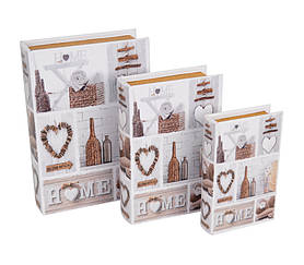 Книга - скринька Home з 3 шт SKL11-208290