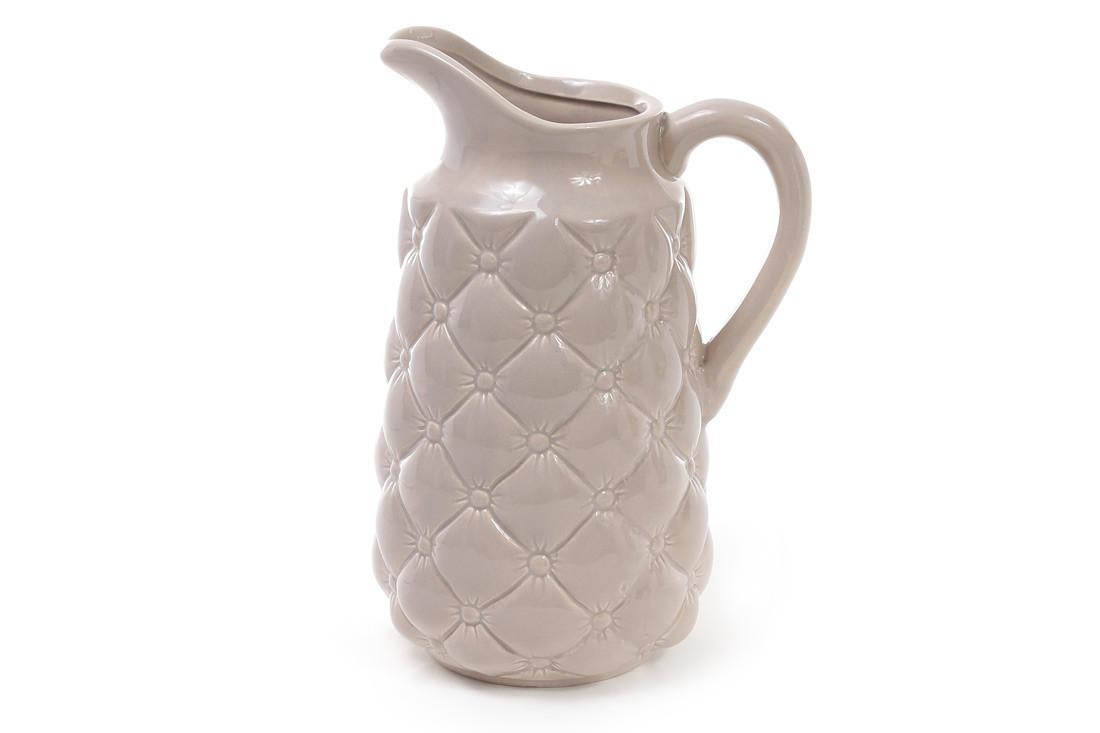 Ваза керамическая в форме кувшина 23.5 см, песочная SKL11-249987