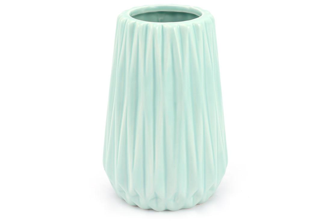 Ваза керамическая, 16 см, мятная SKL11-249979