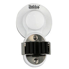 Держатель аксессуаров для ванной Bathlux на 1 разъём на вакуумной присоске 6.2х10.7 см 30124 SKL11-132517