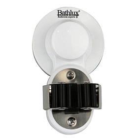 Тримач аксесуарів для ванної Bathlux на 1 роз'єм на вакуумній присоску 6.2х10.7 см 30124 SKL11-132517