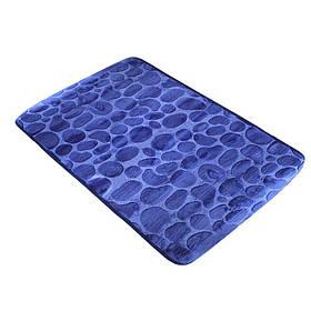 Коврик в ванную комнату Bathlux Blue 10158 антискользящий хлопковый 45х70 см SKL11-132199
