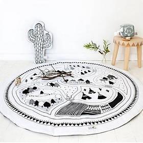 Одеяло коврик в детскую комнату Вигвамы SKL32-218607