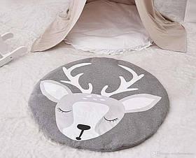Одеяло коврик в детскую комнату Олененок SKL32-189981