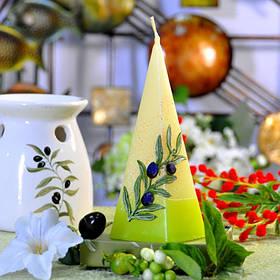 Свеча Olive пирамида 70х240 SKL11-209090