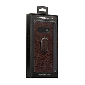 Задняя накладка Genuine Чехол для телефона Leather Croco for Samsung S10 Plus SKL11-233877
